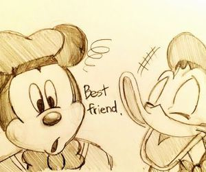 best friend, disney, and donald duck image