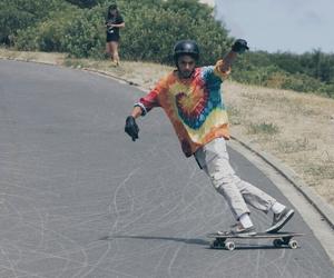 always, rainbow, and skate image
