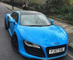 audi, blue, and cool image