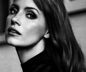 black & white and jessica chastain image