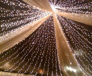 lights, wedding, and decoration image