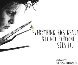 quote, edward scissorhands, and johnny depp image