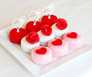 rose, cake, and food image