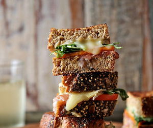 food, sandwich, and cheese image