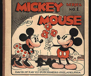 mickey mouse, love, and minnie mouse image