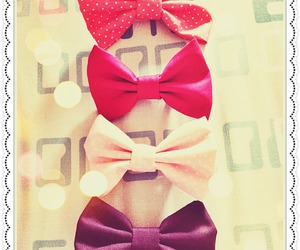 bows, color, and pink image