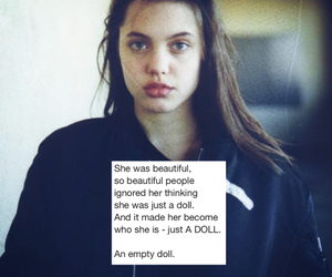 Angelina Jolie, balck&white, and boy image