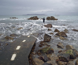 sea, grunge, and road image