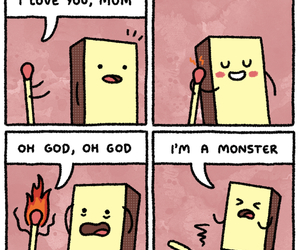 fire, jokes, and monster image
