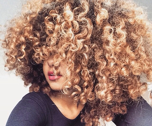 curly hair, fro, and natural hair image