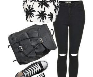 backpack, converse, and fashion image