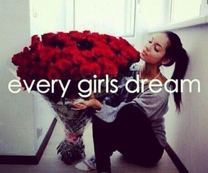 Dream, girl, and rose image