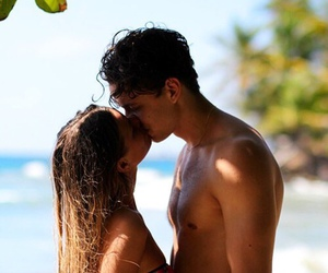 couple, ocean, and love image