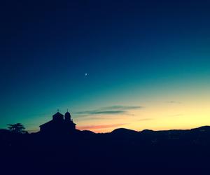 blue, church, and dawn image