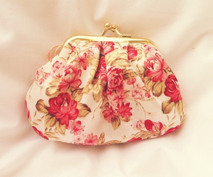 flowers, purse, and floral image