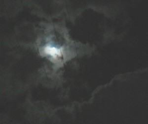 black, moon, and view image