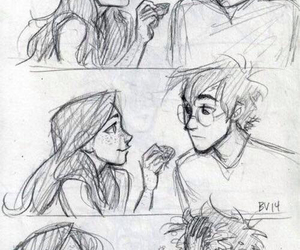 ginny weasley, harry potter, and fanart image