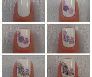 nail art, rosas, and uñas image