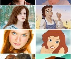harry potter, disney, and hermione granger image