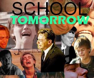 school, sad, and leonardo dicaprio image