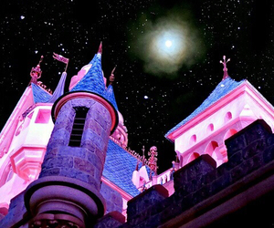 castle, Dream, and moon image