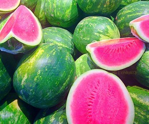 FRUiTS, green, and pink image