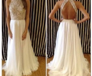 dress, white, and Flowy image