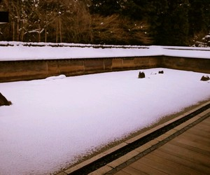 garden, japan, and snow image