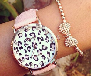 pink, watch, and cute image