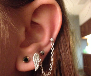 chain, ear, and jewelry image