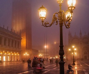 venice, fog, and travel image