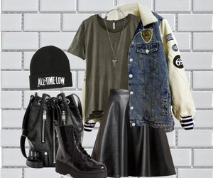beanie, clothes, and combat boots image