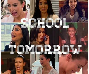 school, tomorrow, and kim kardashian image