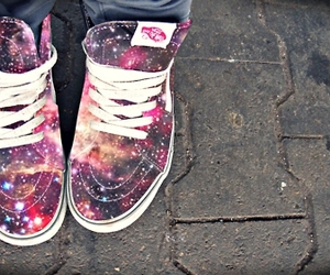 shoes, vans, and galaxy image