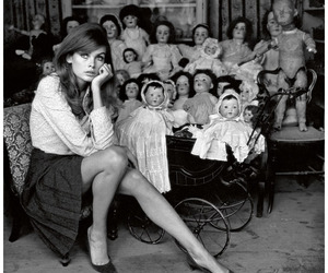 jean shrimpton, black and white, and doll image