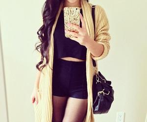 fashion, girl, and cardigan image