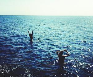 beach, best friends, and ocean image