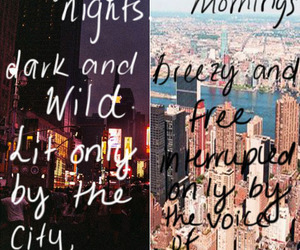 night, quote, and city image