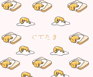 gudetama, wallpaper, and cute image