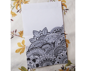 art, doodle, and flowers image