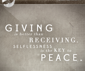 giving, abnegation, and selflessness image