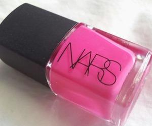 pink, nails, and nars image
