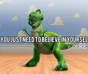 REX, quote, and dinosaur image