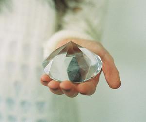 diamond, white, and hand image