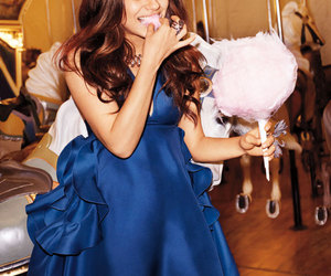 Mila Kunis, dress, and blue image