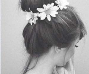 blanco, cabello, and blanco y negro image