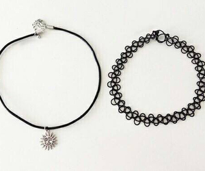 grunge, necklace, and black image