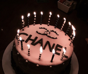 chanel, cake, and birthday image