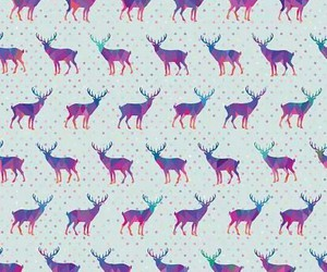 wallpaper, background, and deer image
