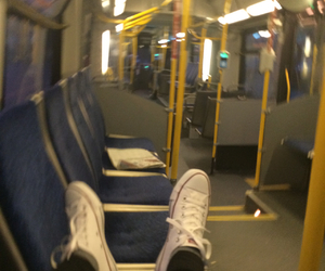 blue, bus, and converse image